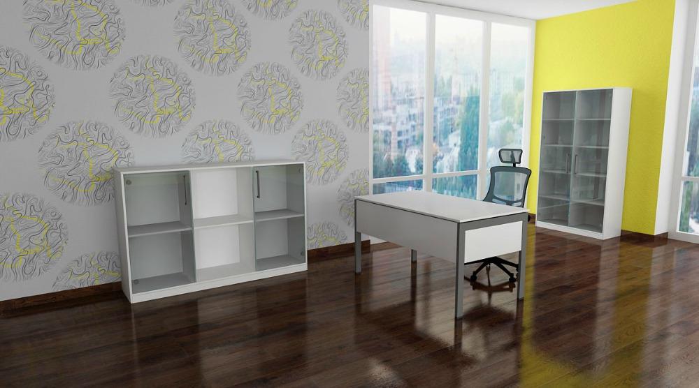 Рабочее место Line AIR на эскизе офисного помещения