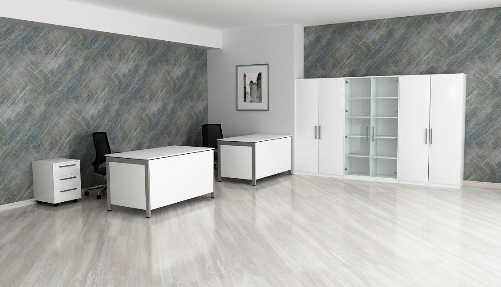 Столы и гардероб AIR в интерьере офиса