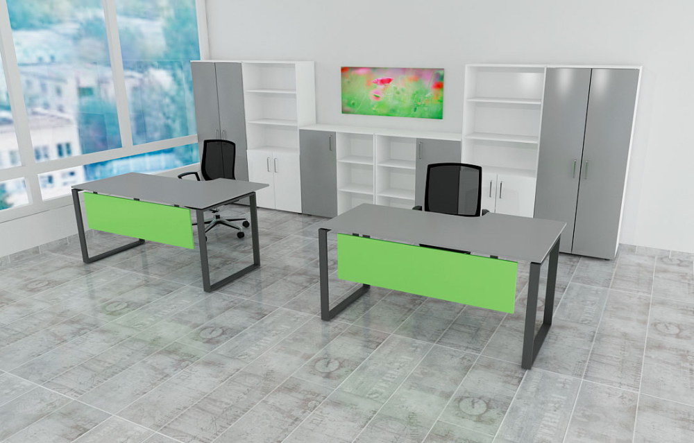 Варианты писменого стола и шкафов ROUND