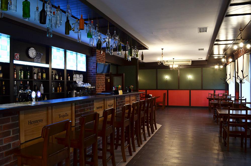 Зона у барной стойки, барные стулья