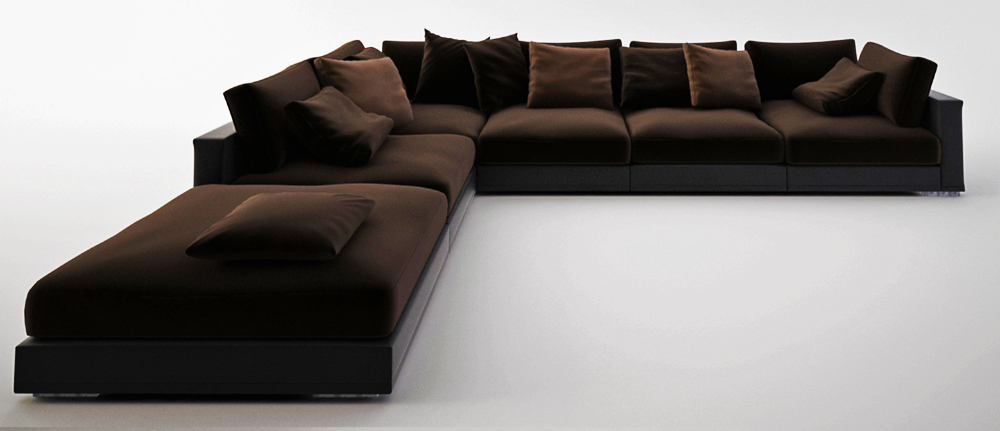 Просторный диван Fulmine для гостинной