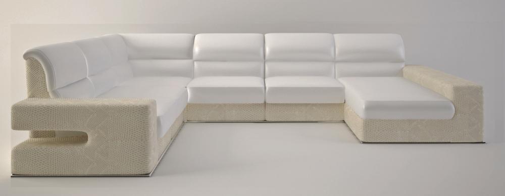 Pioggia - светлый диван для углового размещения