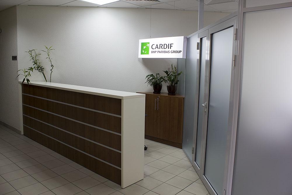 Стойка рецепции для Cardif. Материал: ДСП