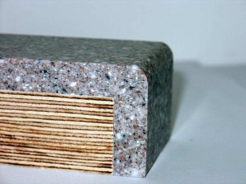 Край столешницы из искусственного камня