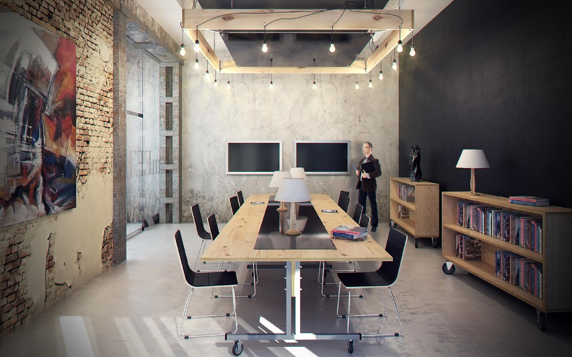 офисная мебель в стиле лофт By Zest
