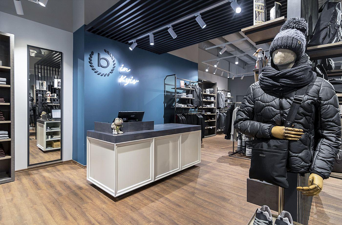 касса магазина одежды